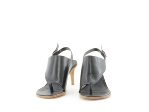 Tibi Thong Black Sandals