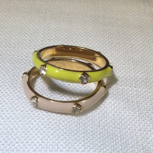 J.Crew J.Crew Stackable Enamel and Crystal Studded Rings (Set of Two)