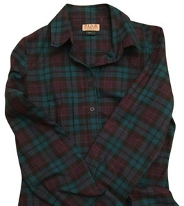 Thomas Pink Button Down Shirt Green and Purple