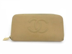 Chanel CC Logo Zip Around Wallet 210851