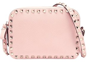 Valentino Textured Leather Studded Cross Body Bag
