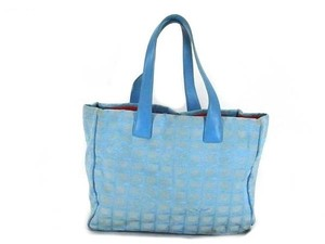 Chanel Sport New Line Leather Canvas Tote in blue