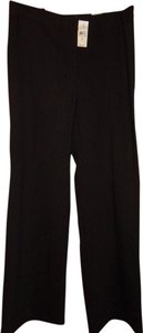 Ann Taylor LOFT Flare Pants Black with white stripe
