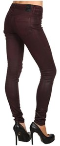 Dylan George Pleather Skinny Jeans-Coated