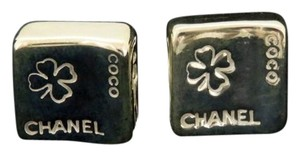 Chanel CC Clover Keyboard Earrings 925 Silver 210807