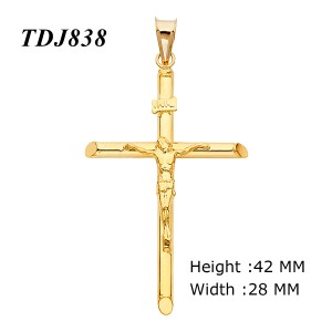 Top Gold & Diamond Jewelry 14K SOLID YELLOW GOLD Jesus Crucifix Cross Pendant Charm Necklace