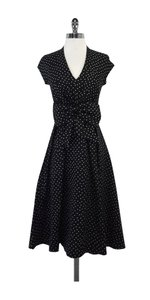Kate Spade short dress Freesia Black White Polka Dot on Tradesy
