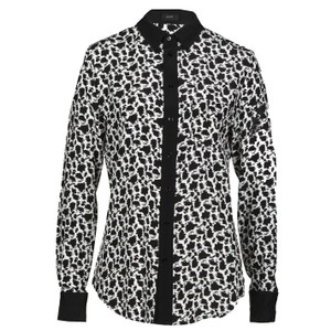 Joseph Printed Button Down Shirt Black