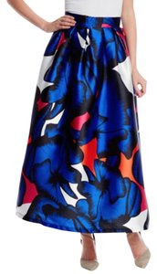 Beulah Printed A-line Party Skirt Blue, Multi