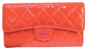 Chanel Chanel Quilted Vernis Trifold Wallet