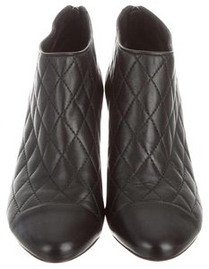 Chanel Leather Quilted Black Boots