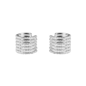 Fine Jewelry Vault Fancy Cubic Zirconia Clip on Cuff Earrings in White Hue