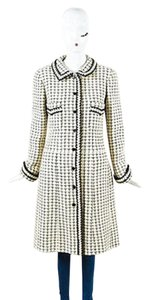 Chanel Cream Black Checker Coat
