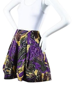 Marni Black Purple Yellow Skirt Multi-Color