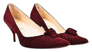 Christian Louboutin Burgundy Red Pumps