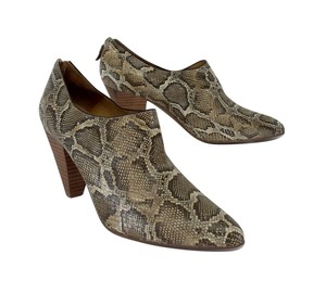 Bettye Muller Snakeskin Leather Shooties Boots