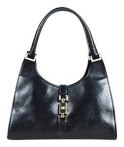 Gucci Textured Leather Tote in Black
