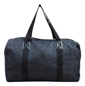 Gucci Gg Carryall Duffle Indigo Travel Bag