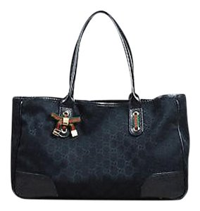 Gucci Gg Monogram Tote in Black