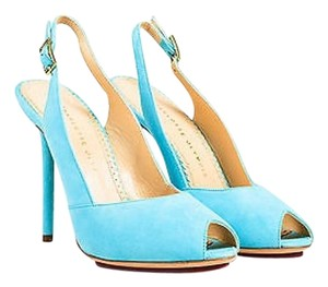 Charlotte Olympia Teal Blue Pumps
