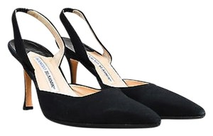 Manolo Blahnik Pointy Black Pumps