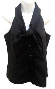 Adrienne Vittadini Shawl Collar Top Black