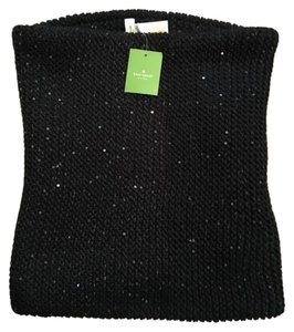 Kate Spade NEW!!! Tags Black Sequin Knit Neckwarmer Infinity Scarf Snood