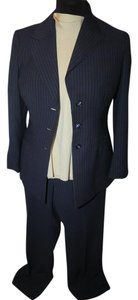 Kasper KASPER 3 PIECE NAVY WITH CREAM STRIPE PANTSUIT