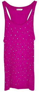 Reiss Sleeveless Rhinestone Racerback Top Pink