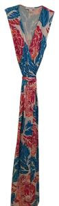 Blue/orange/magenta/white Maxi Dress by Diane von Furstenberg