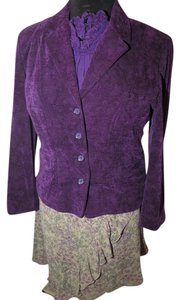 Talbots Talbots Purple Velvet Cut Jacket J Jill Skirt suit Taupe 3 piece set