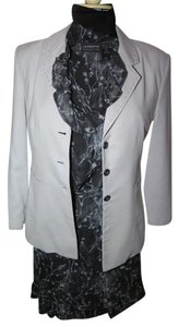 Liz Claiborne Liz Claiborne skirt suit matching grey/blue black remake