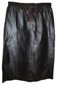 LaVogue Vintage Leather Skirt black