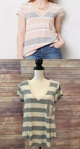 Anthropologie T Shirt Ivory/Gray