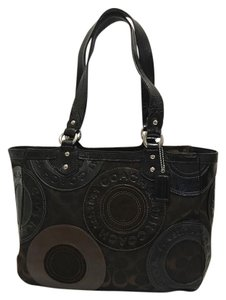 Coach Leather Signature Patchwork Shoulder Bag