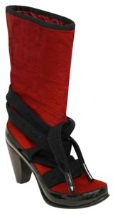 Marc Jacobs Red Pony Hair Red, Black Boots