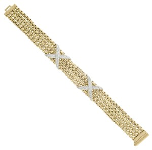 David,Yurman,18k,Yellow,Gold,Original,Diamond,Ladies,Bangle,Bracelet