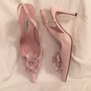 Sacha London Leather Slingback Pink Pumps