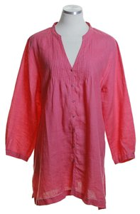 Eileen Fisher Woven Long Sleeve Linen Solid Tunic