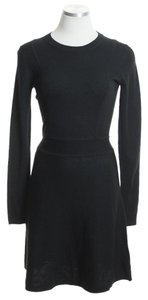 Theory short dress Black Sweater Wool on Tradesy