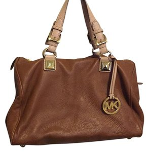 MICHAEL Michael Kors Satchel in Saddle Brown