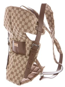 Gucci Silver Hardware Gg Beige, Brown Diaper Bag