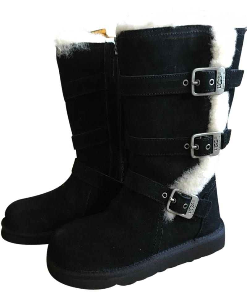 b9884b5047c UGG Australia Black Little Kids Tripple Buckle Maddi Boots/Booties Size US  12