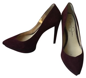 Jessica Simpson Burgundy Platforms