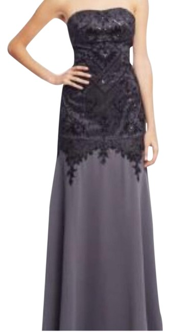 Item - Grey/Black Nocturne Formal Dress Size 2 (XS)