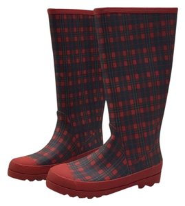 J.Crew Red plaid Boots