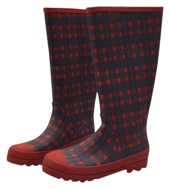 Item - Red Plaid - Boots/Booties Size US 7 Regular (M, B)