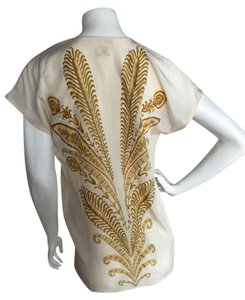 Escada Silk Luxury Top Ivory, Gold