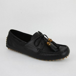 Gucci Men's Leather Bamboo Tassel Loafer Driver G 10.5 G/ Us 11 367923 1000