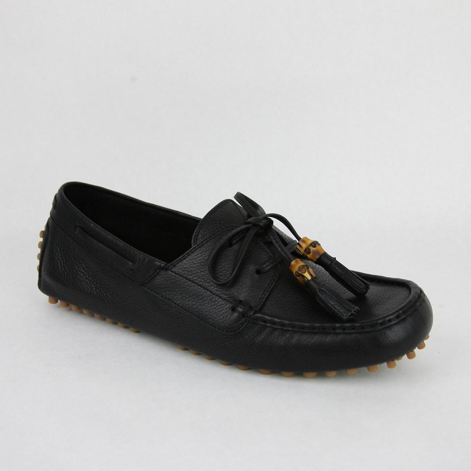 fc4624b0ea5 Gucci Black Men s Leather Bamboo Tassel Loafer Driver G 11.5 G  Us 12  367923 Shoes ...